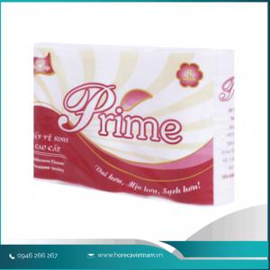 Giấy vệ sinh cuộn nhỏ Prime có lõi 6 cuộn x 3lớp