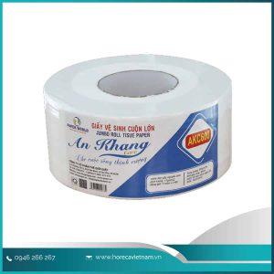 Giấy vệ sinh cuộn lớn An Khang caro600 và những Ưu Điểm nổi bật
